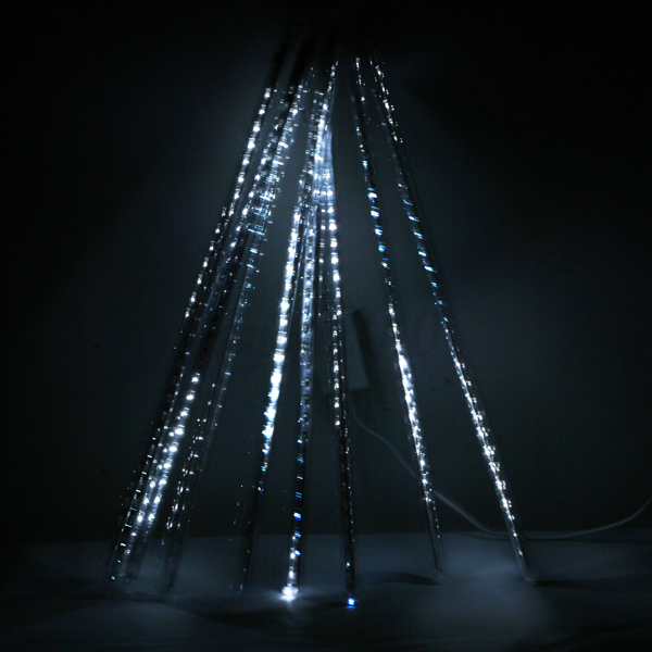 Led Icicle String Lights With Ice Drop : 20cm Meteor Shower Falling Star/Rain Drop/Icicle Snowfall LED Xmas String Light eBay