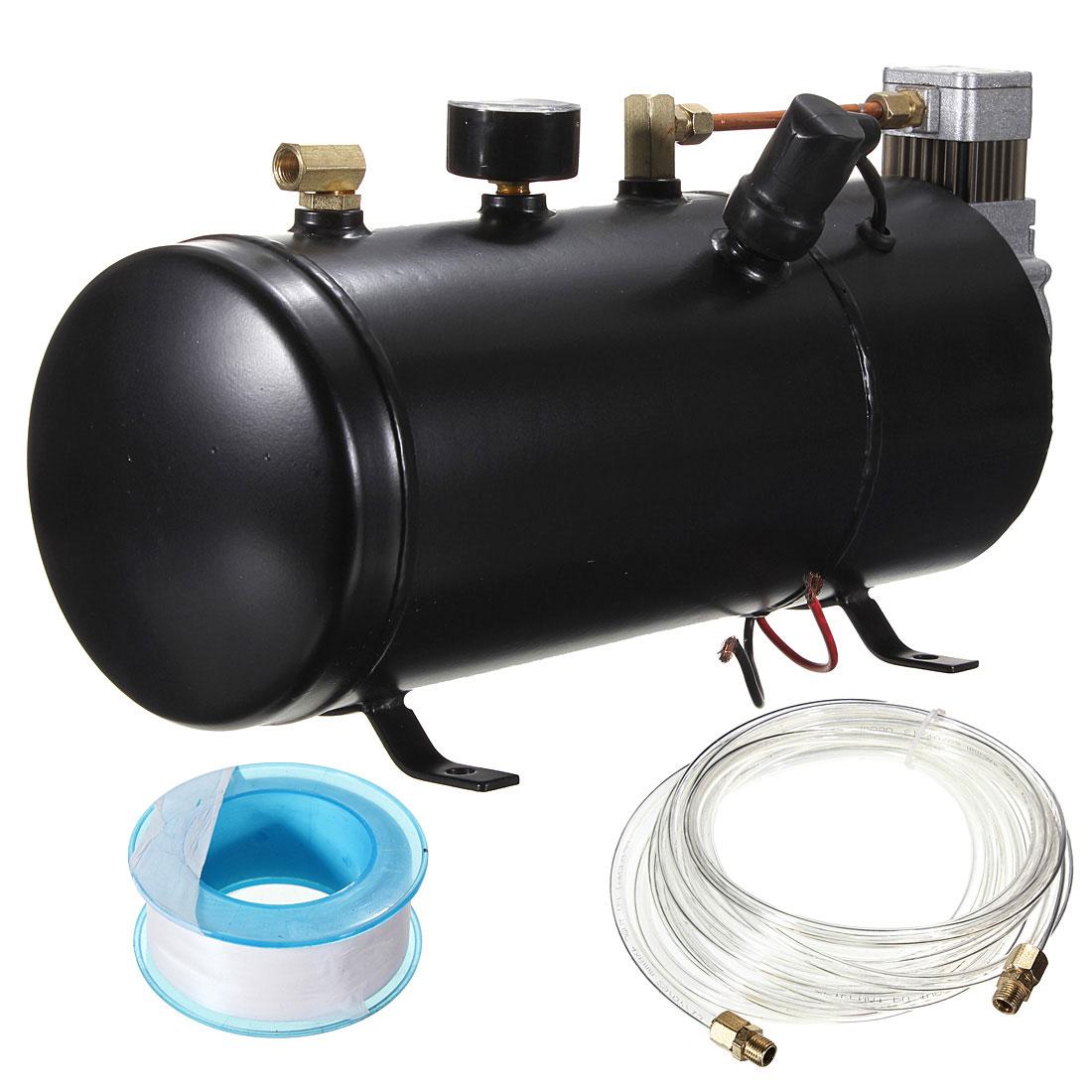 110 psi 12 volt heavy duty compact air compressor tank - Compresseur 12 volts ...