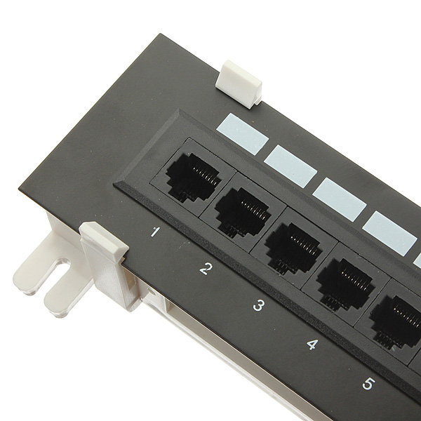 12 port rj45 cat5e ethernet 110 network mini patch panel. Black Bedroom Furniture Sets. Home Design Ideas