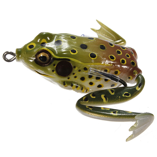 topwater frog ray fishing soft lure crankbait hooks bass