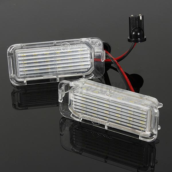 2 Pcs Led Rear Number License Plate Light Lamp For Ford