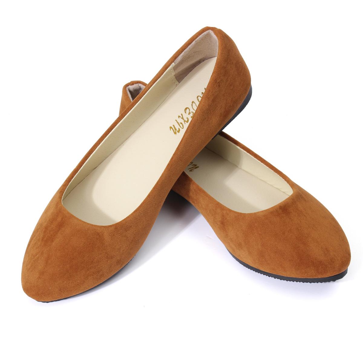 damen neu ballerina halbschuhe ballerinas schuhe wildleder slipper shoes flach ebay. Black Bedroom Furniture Sets. Home Design Ideas