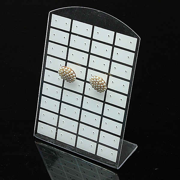 36 Pairs 72 Holes Jewelry Holder Show Case Earrings Display Rack Stand Organizer