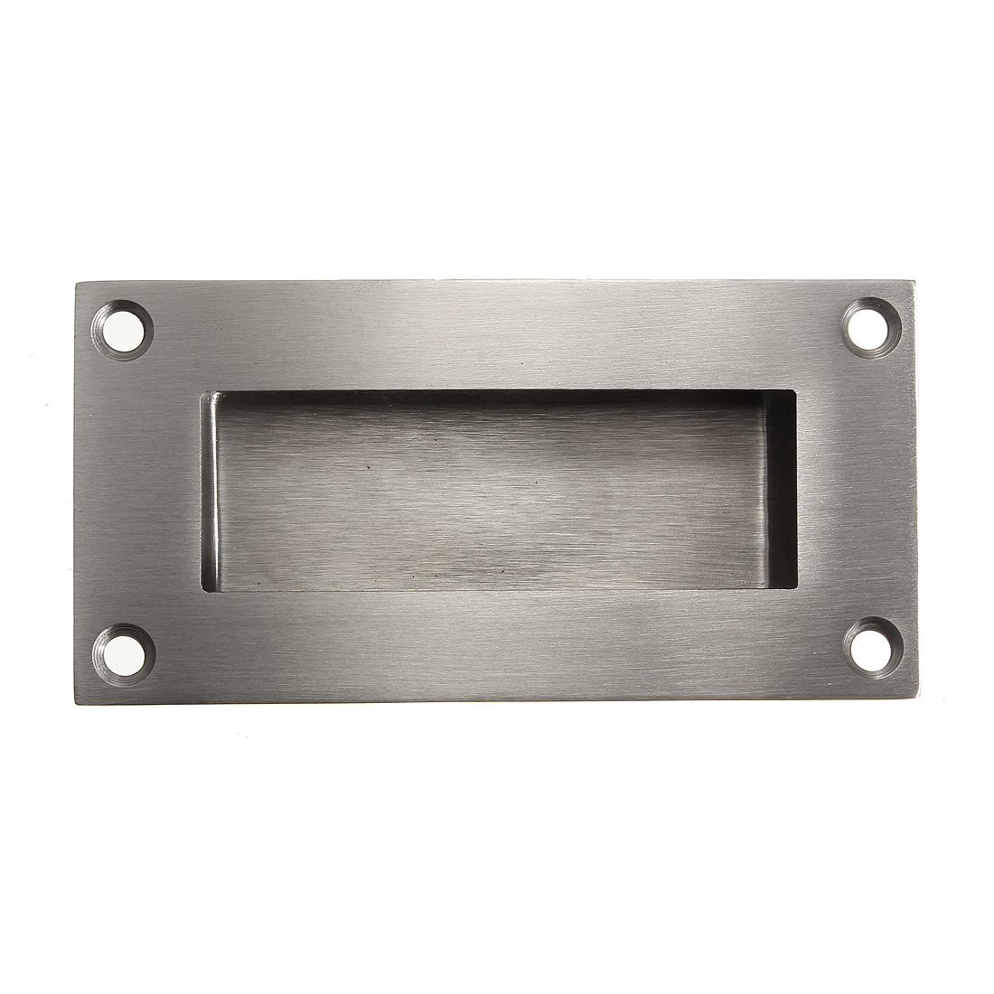 Stainless steel recessed flush pulls drawer cabinet door for Stainless steel cabinet door