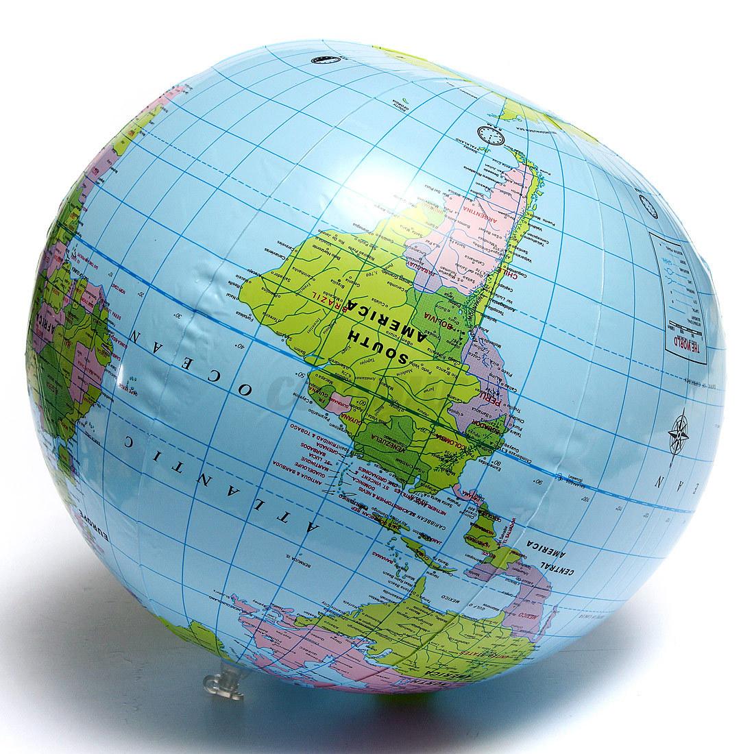 38cm inflatable earth world globe map beach ball