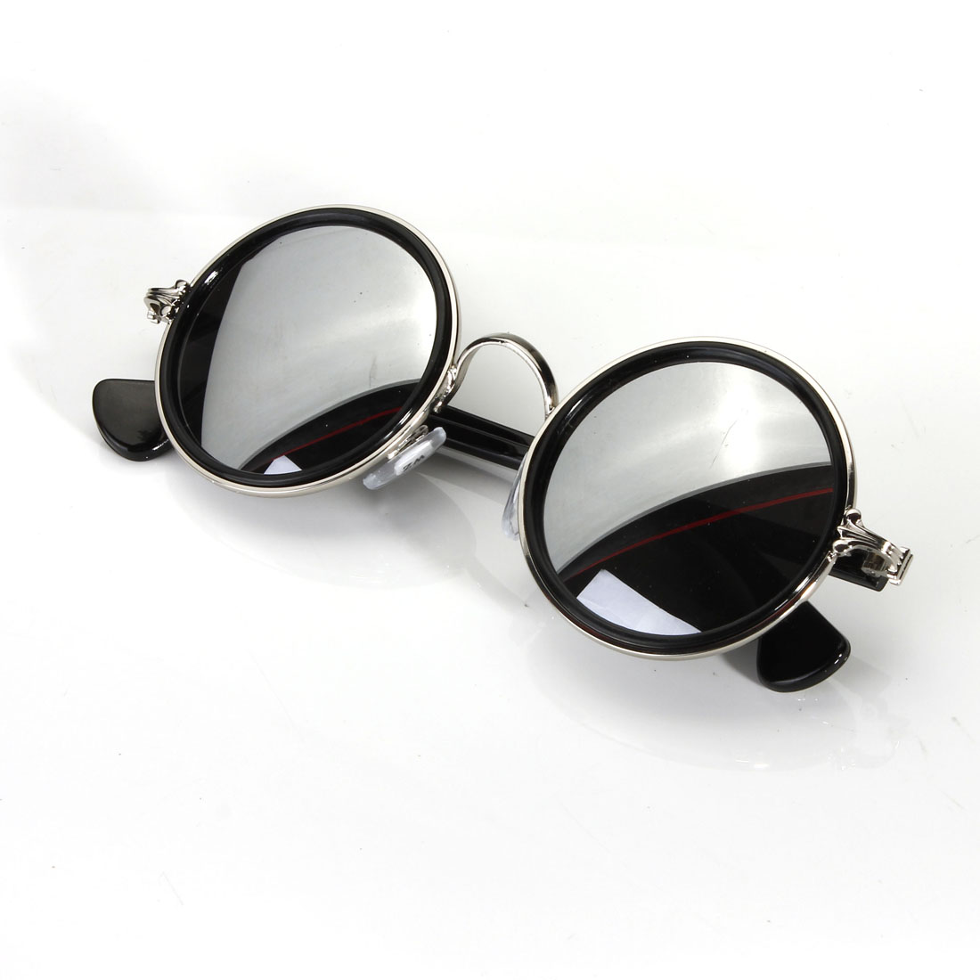 fashion vintage round mirror lens uv400 sunglasses women. Black Bedroom Furniture Sets. Home Design Ideas