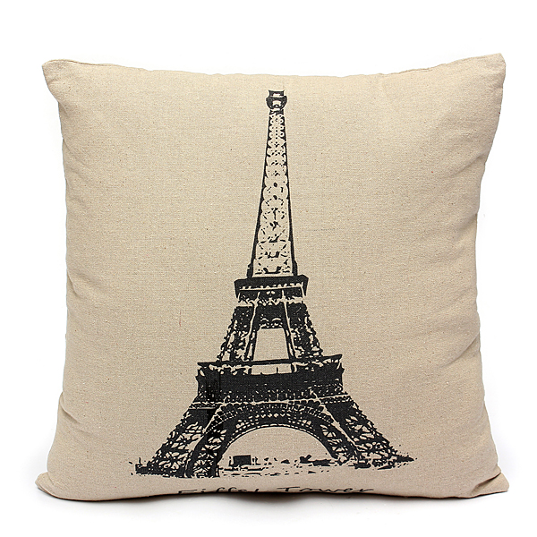 Stripe Natural Cotton Linen Throw Pillow Case Cushion Cover Square Home Car Sofa