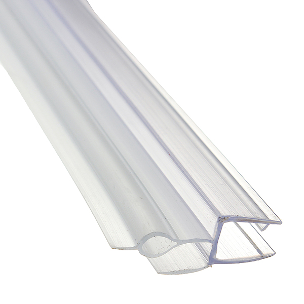 shower screen seal strip for 4 6mm curved flat glass bath. Black Bedroom Furniture Sets. Home Design Ideas