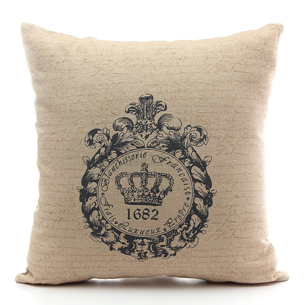 Printing Cotton Linen Home Room Sofa Back Decor Throw Pillow Cases Cushion Cover