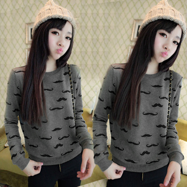 Fashion Women Round Neck New Pullover Jumper Sweater Knitwear Top Blouse Shirt