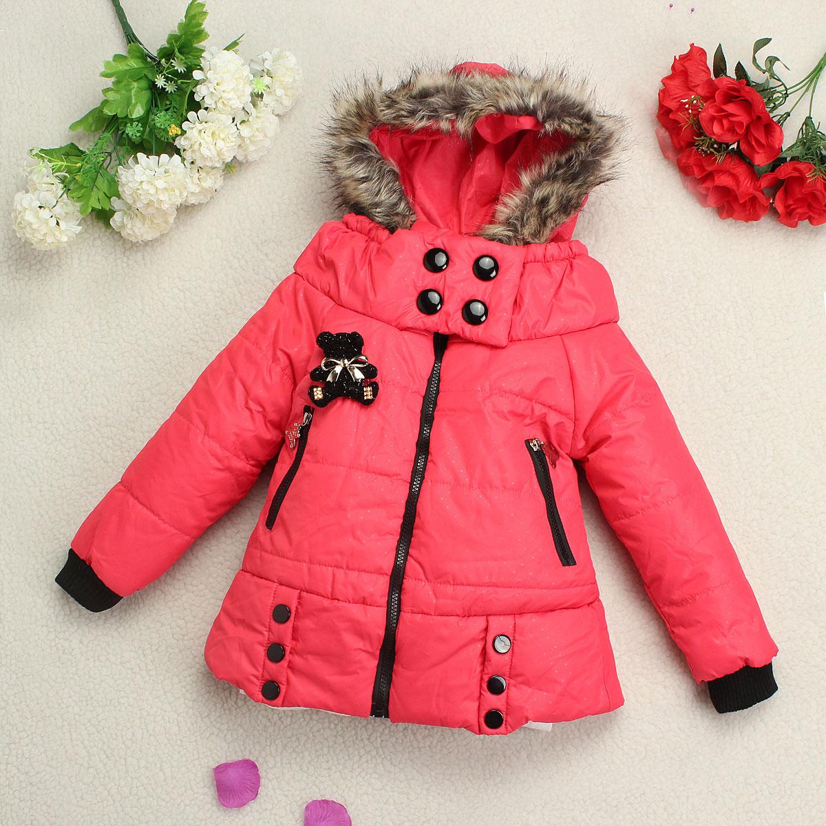 fille manteau tenues neige parka veste capuche hiver chaud enfant 2 7 ans ebay. Black Bedroom Furniture Sets. Home Design Ideas