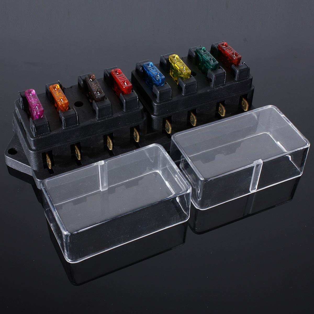 fuse holder box block 8 way car vehicle circuit automotive. Black Bedroom Furniture Sets. Home Design Ideas