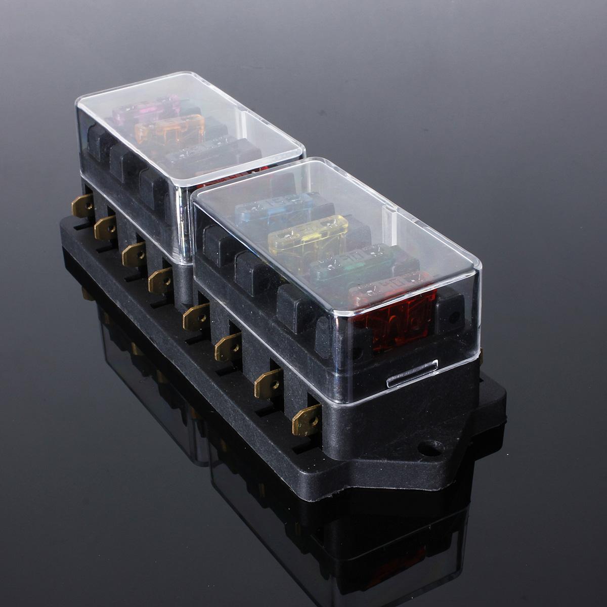 fuse holder box block 8 way car vehicle circuit automotive ... box car vehicle automotive blade fuse holder block 150 amp fuse holder box