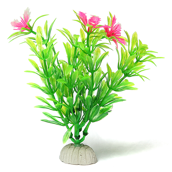 lot fleur fish tank water grass plante plastic pour poisson aquarium decor ebay