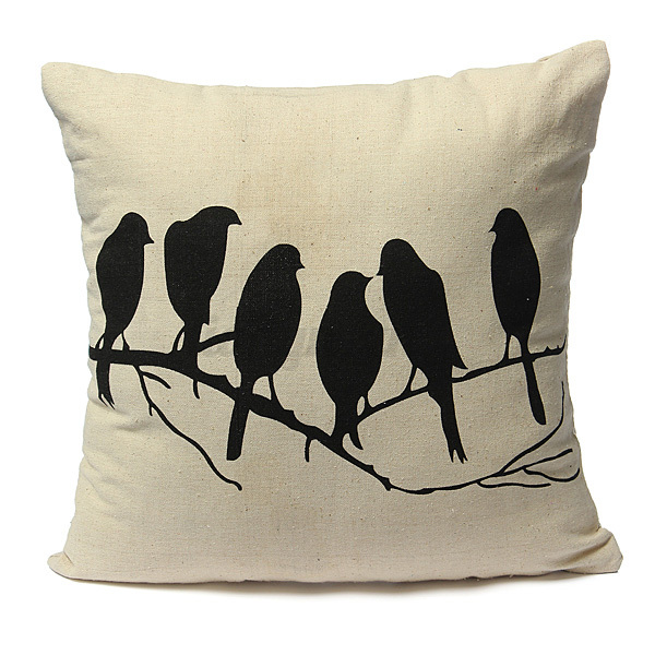 cerf animaux housse de coussin taie d 39 oreiller canap lit maison d coration hj ebay. Black Bedroom Furniture Sets. Home Design Ideas