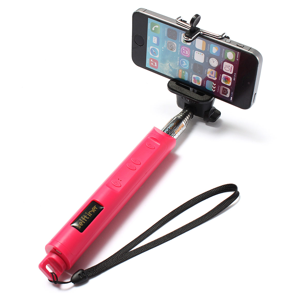 bluetooth extendable handheld selfie stick monopod w zoom for iphone 6 5 5s htc ebay. Black Bedroom Furniture Sets. Home Design Ideas