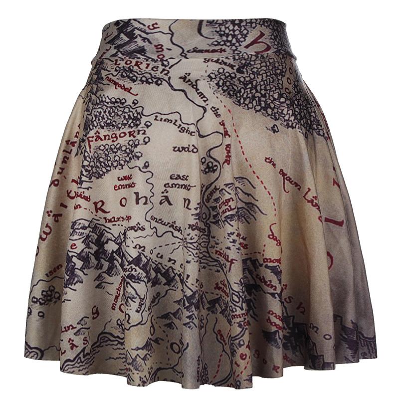 charm joker vintage pattern high waist flared