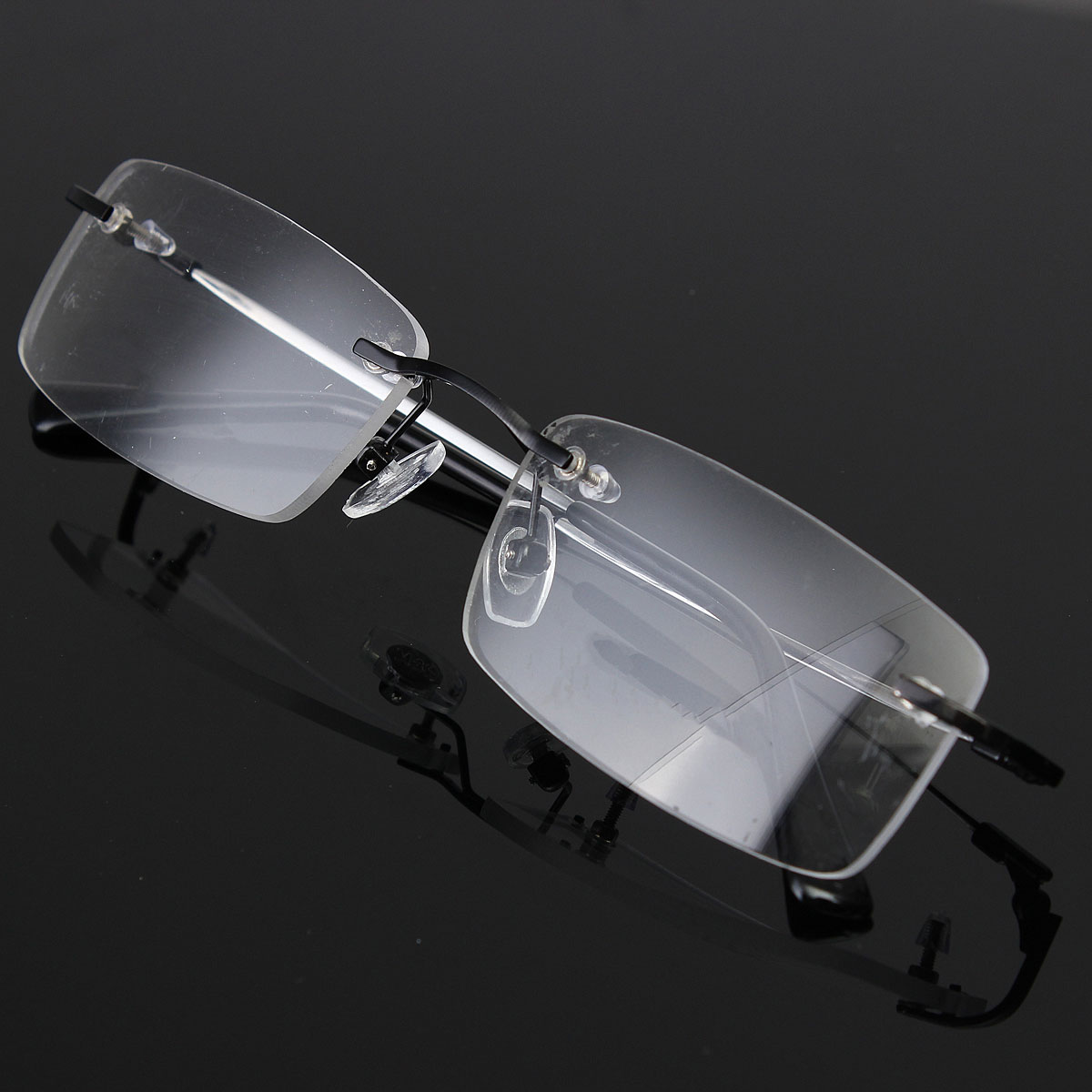 Lightweight Mens Rimless Glasses Memory Titanium ...