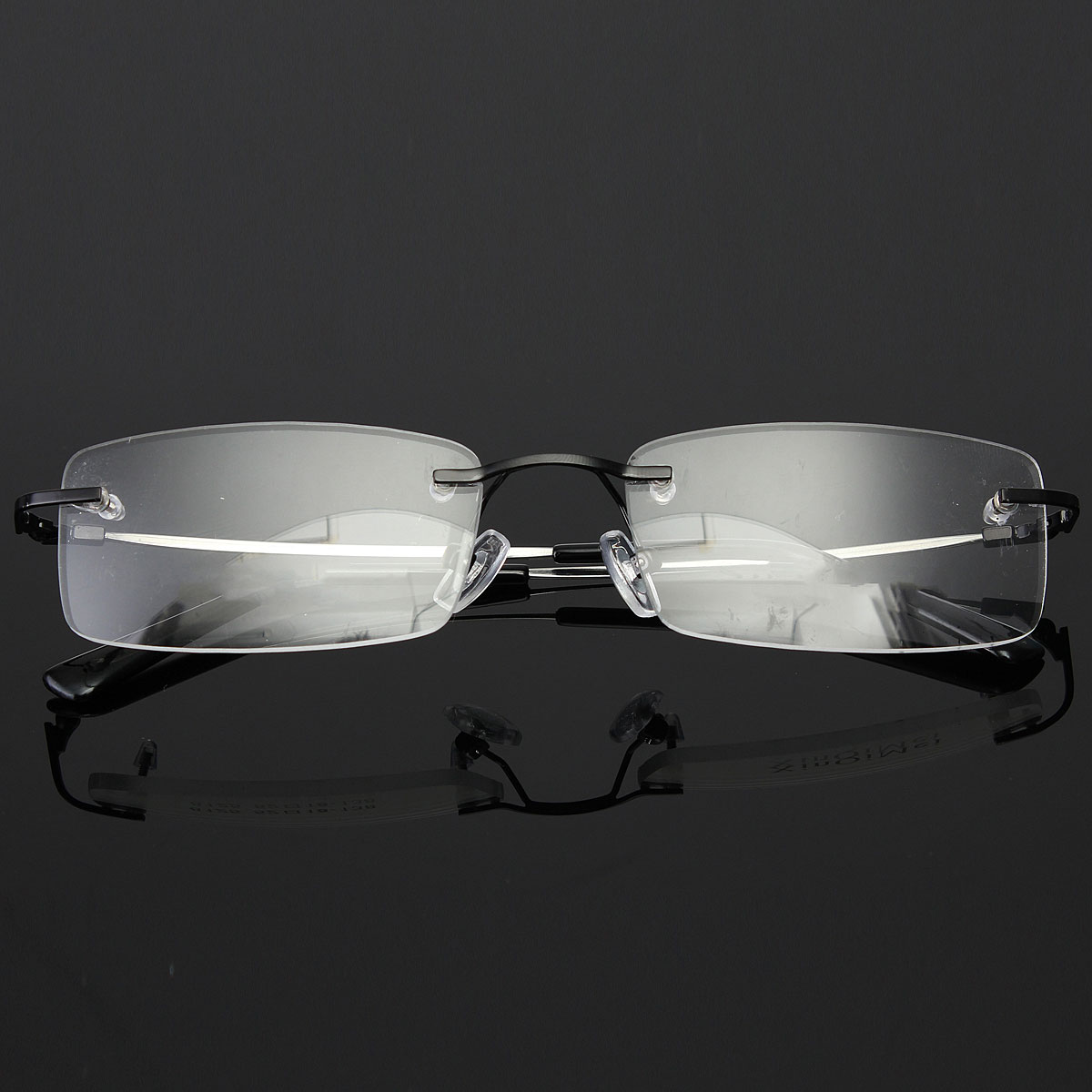 Rimless Glasses Lightweight : Lightweight Mens Rimless Glasses Memory Titanium ...