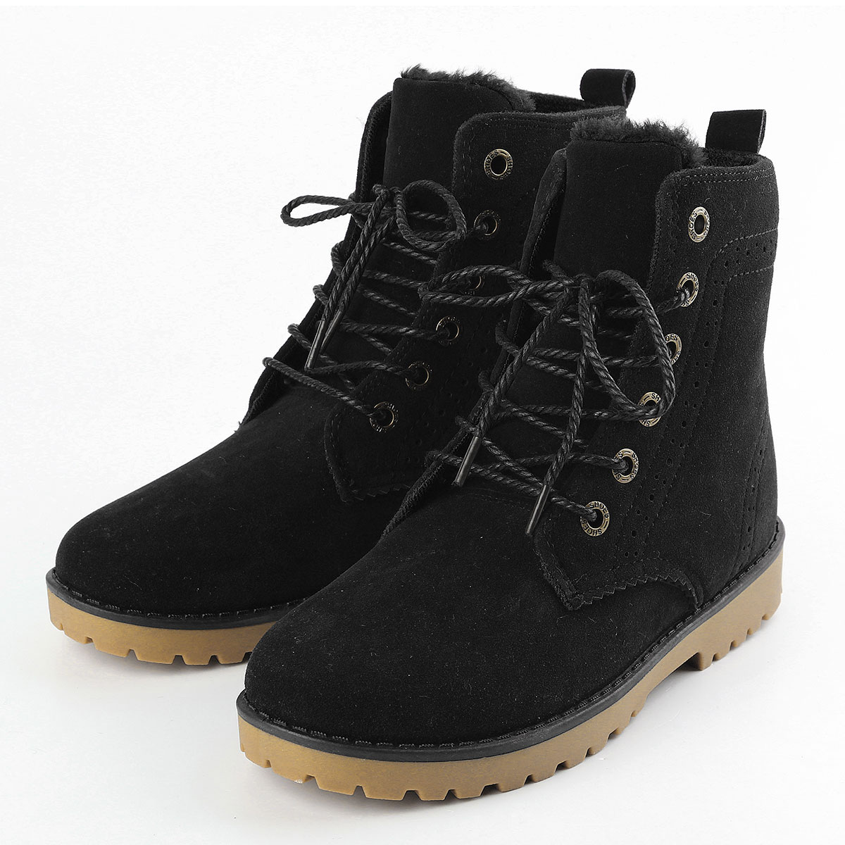 womens mens genuine leather mid calf boots snow boots warm