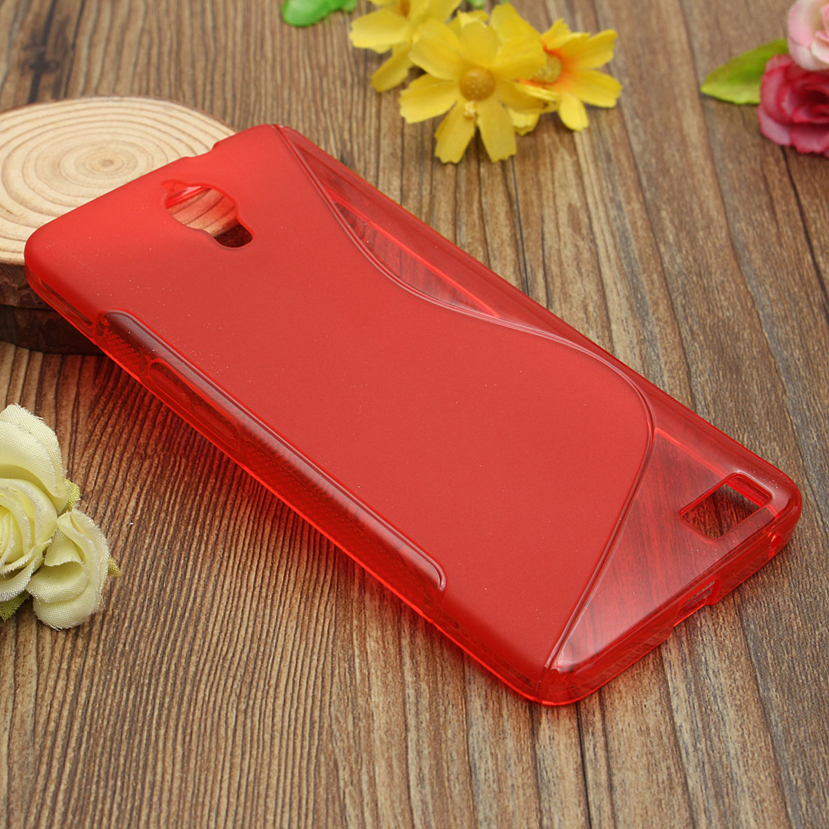 S Line Wave Slim Soft TPU Gel Case Cover Skin For Alcatel One Touch Idol X 6040