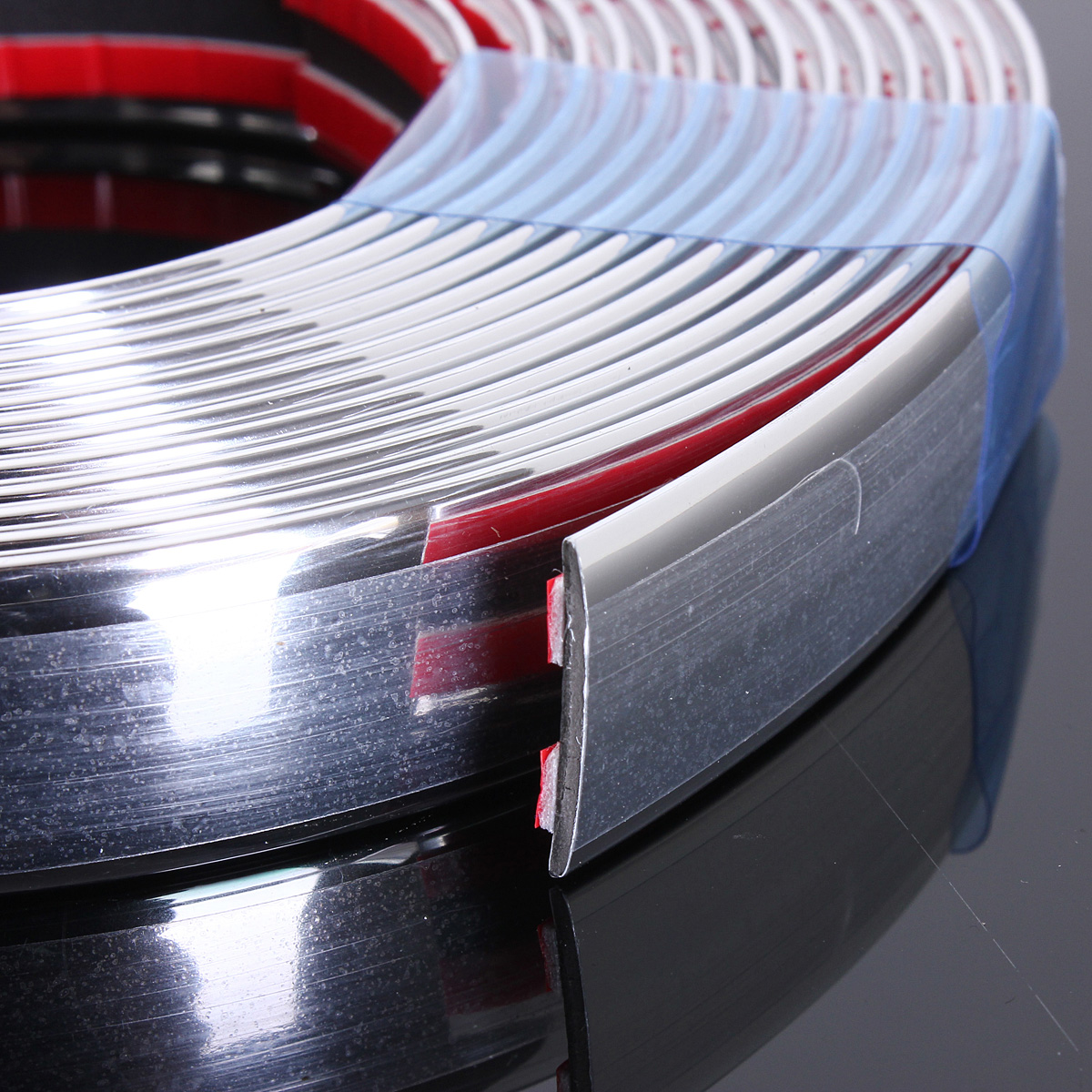 20mm 5m chrome car styling moulding strip trim self adhesive crash protector van. Black Bedroom Furniture Sets. Home Design Ideas