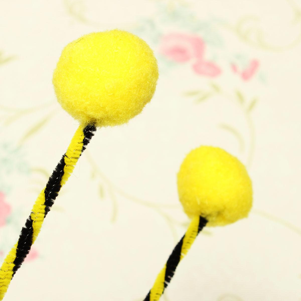 how to make bumble bee antenna headband