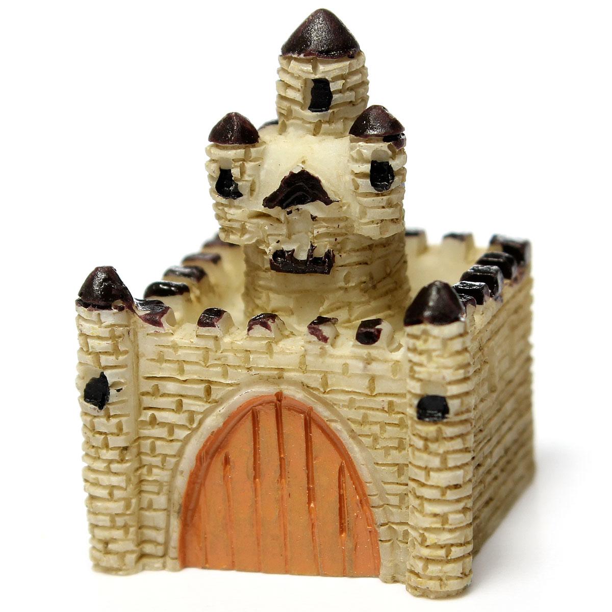 Europe Castle Mini Fairy Garden Micro Dollhouse Pot Bonsai