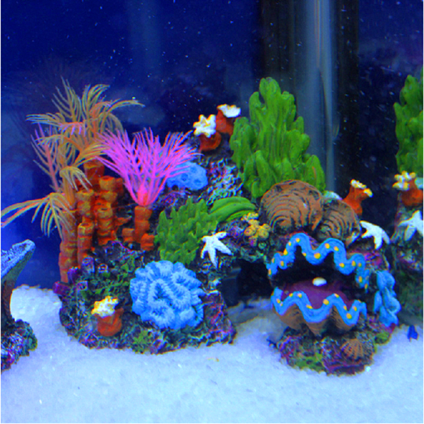 resin sucker mounted coral reef fish tank cave decor aquarium ornament us ebay