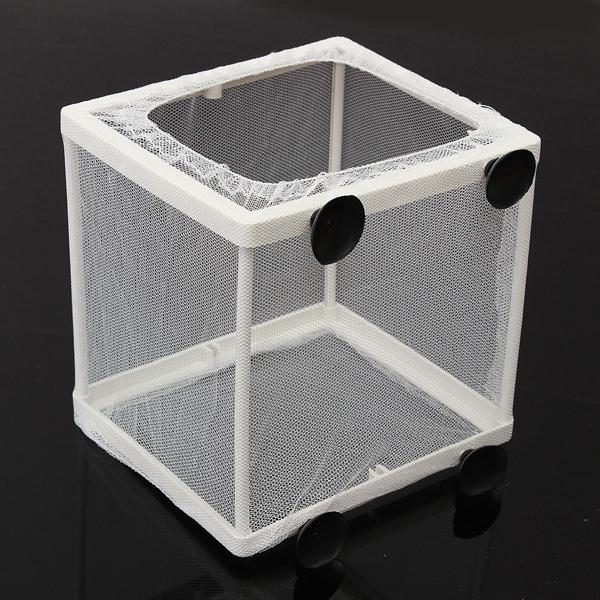 6 single baby fish breeder net box chamber fry saver for Fish breeder box