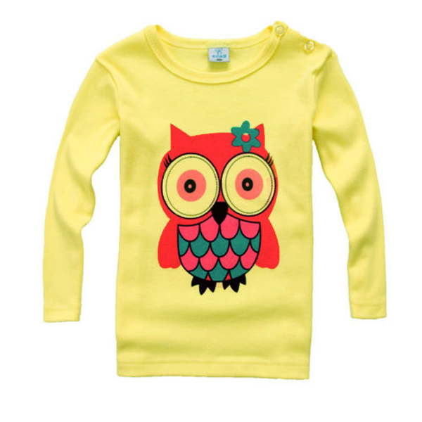 Chic Cotton Kids Unisex Long Sleeve T-shirt Tops Panda Pattern Casual Pullover