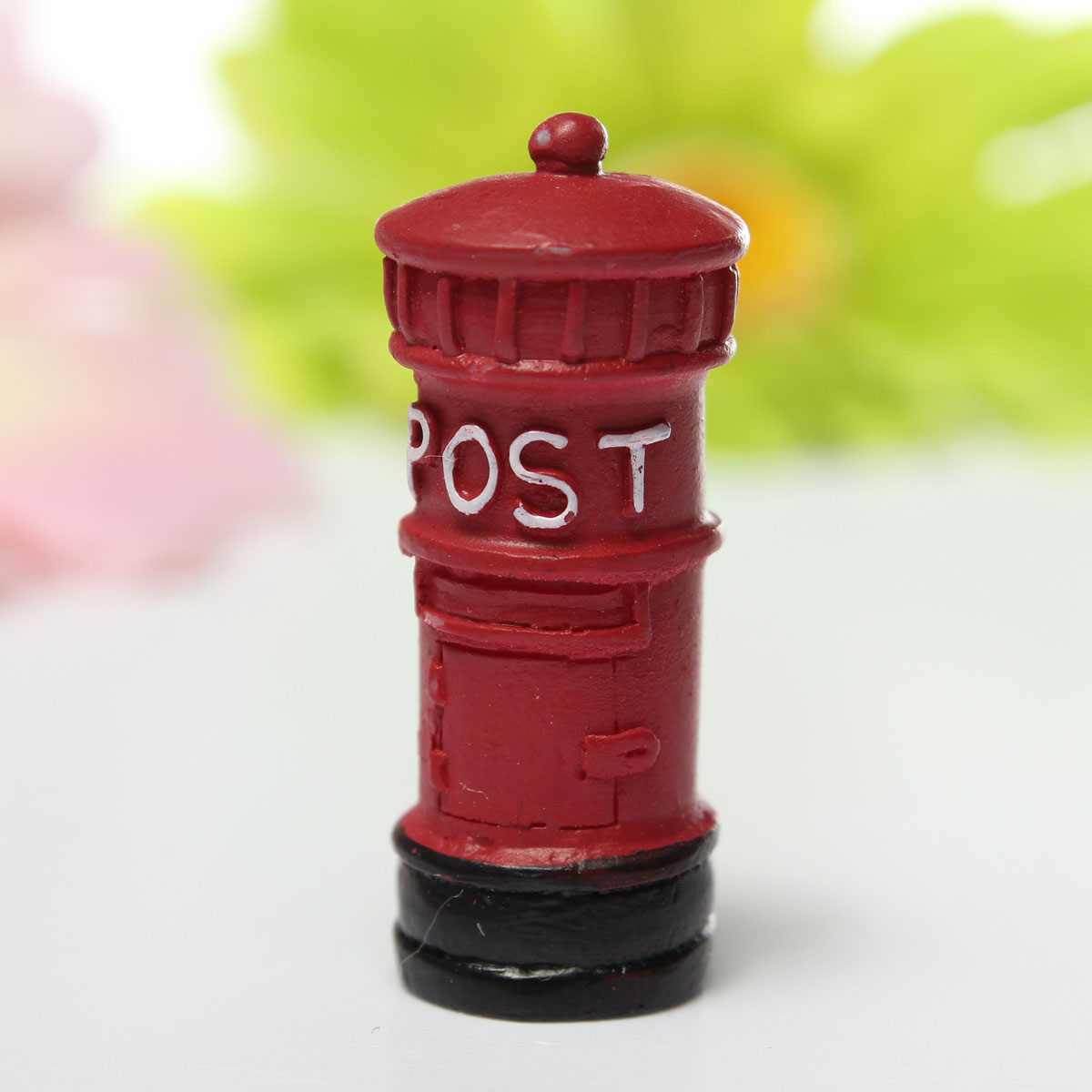 Miniature Europe Retro Postbox Fairy Garden Micro Dollhouse Decoration Ornament