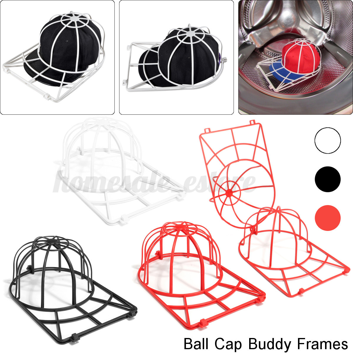 Plastic Ball Cap Washer Buddy Frame Hat Top Rack Cleaner Machine Cage Drying