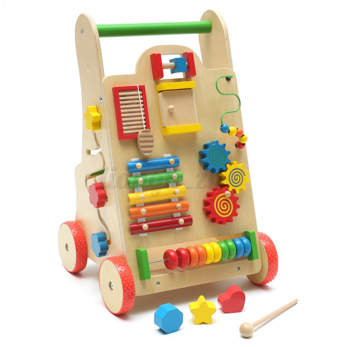 activit musique bois marcheur trotteur porteur pousseur b b toddler jeux jouet. Black Bedroom Furniture Sets. Home Design Ideas