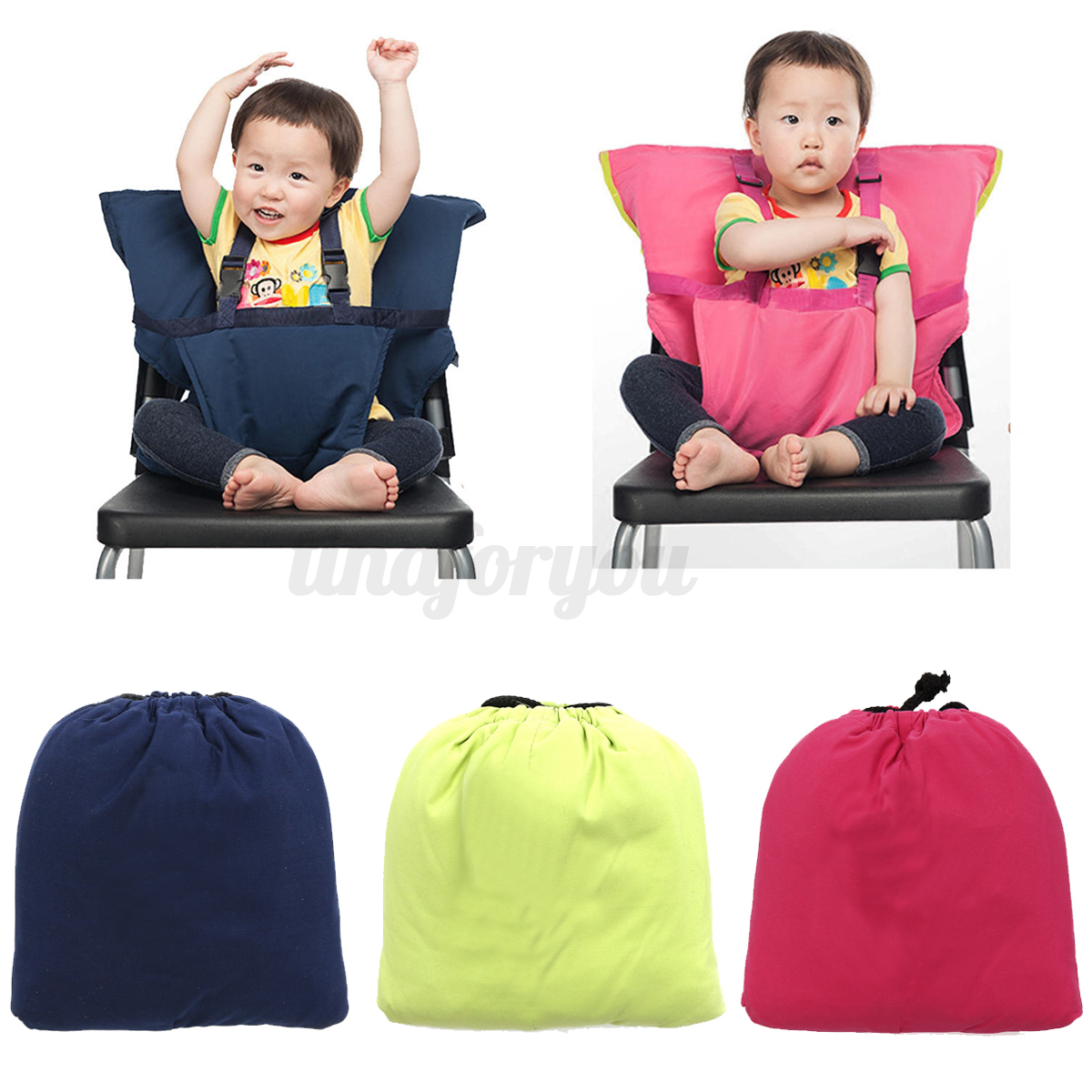 Portable Baby Infant Kids Seat High Chair Harness Safety Belt Fastener Ebay