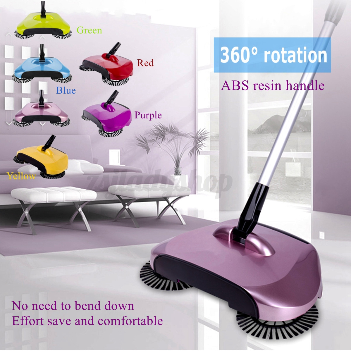 360 Rotary Home Use Dust Sweeping Manual Telescopic Floor Cleaner Mop Sweeper
