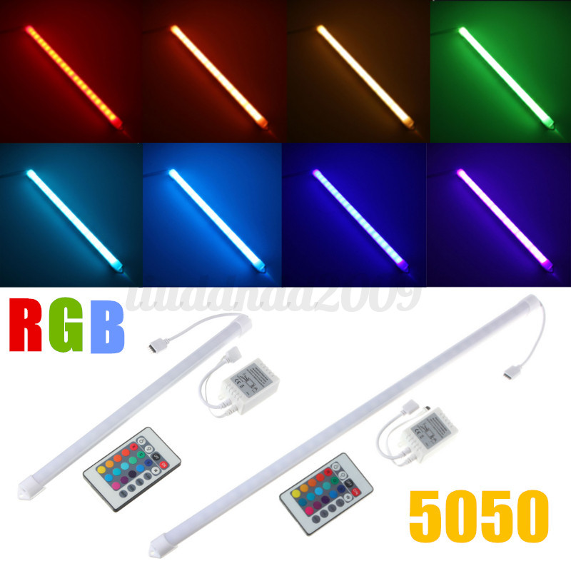 30 50cm led rgb unterbauleuchte strip lichtleiste beleuchtung schrank lampe ebay. Black Bedroom Furniture Sets. Home Design Ideas