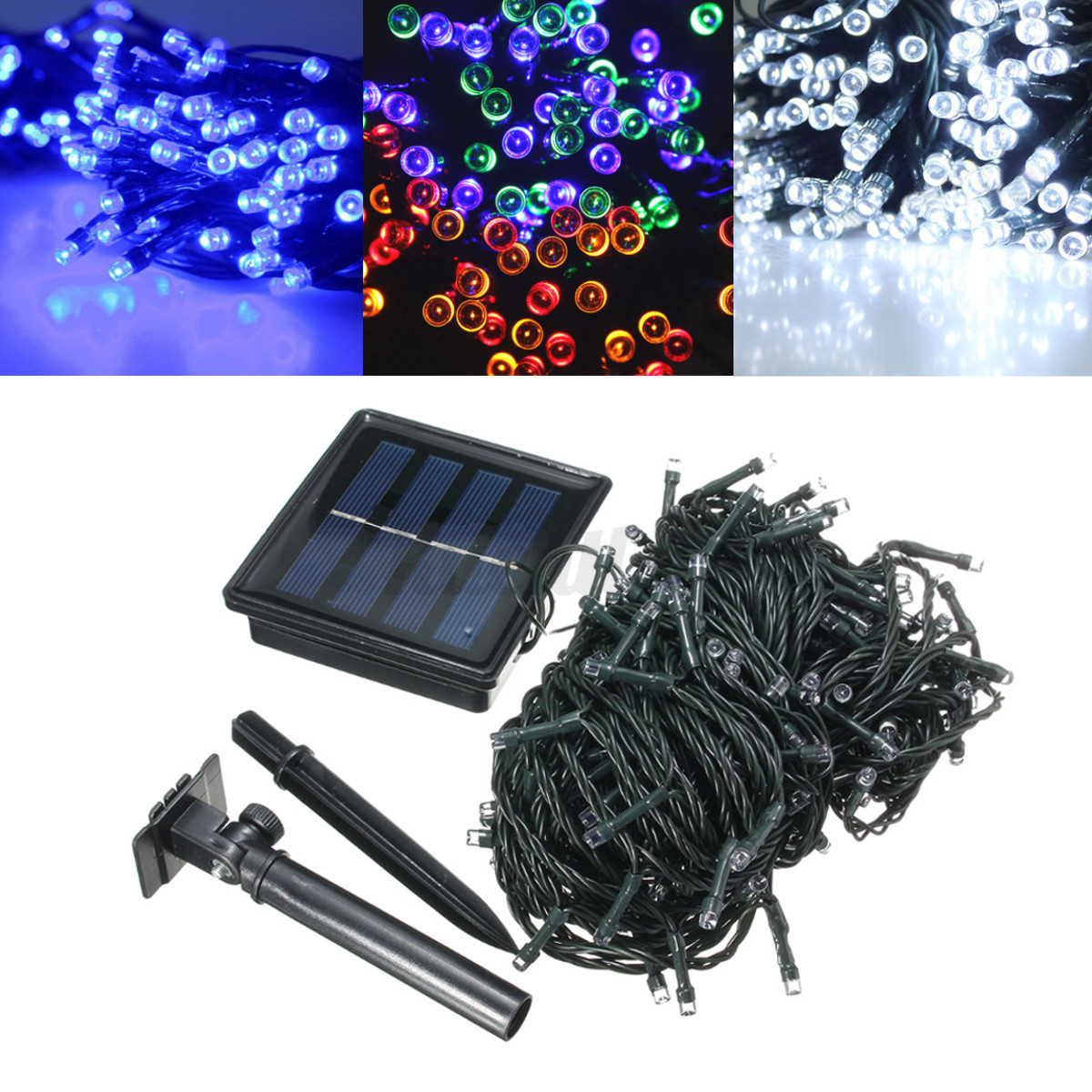 1 50m led lichterkette batterie solar licht leiste weihnachtslicht paty au en ebay. Black Bedroom Furniture Sets. Home Design Ideas