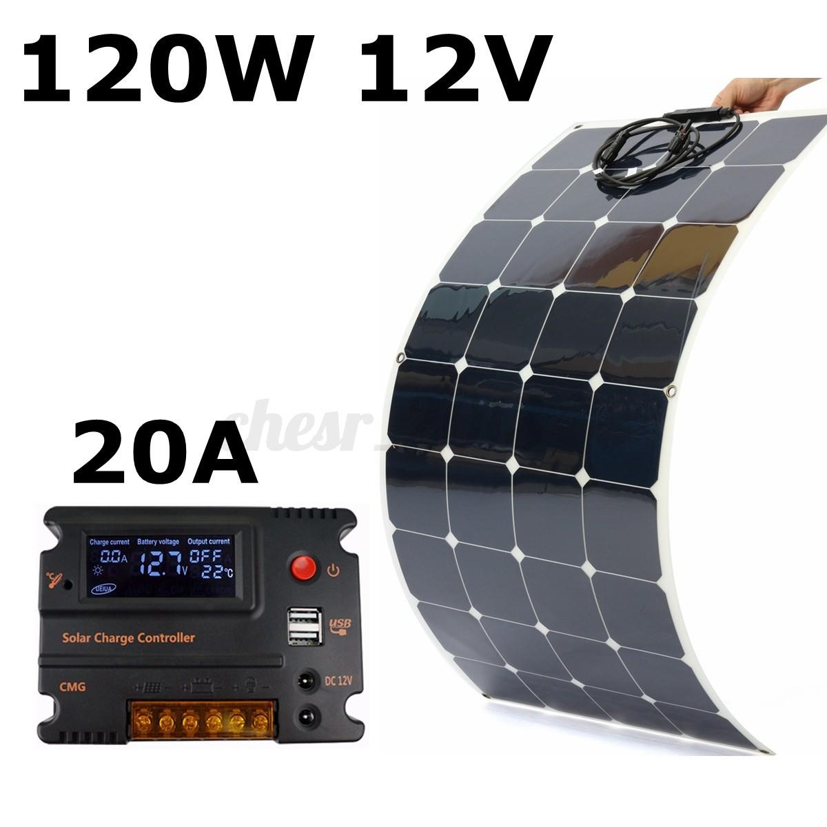 Pannello Solare Per Vw California : Uk v w semi flexible solare pannello regolatore for
