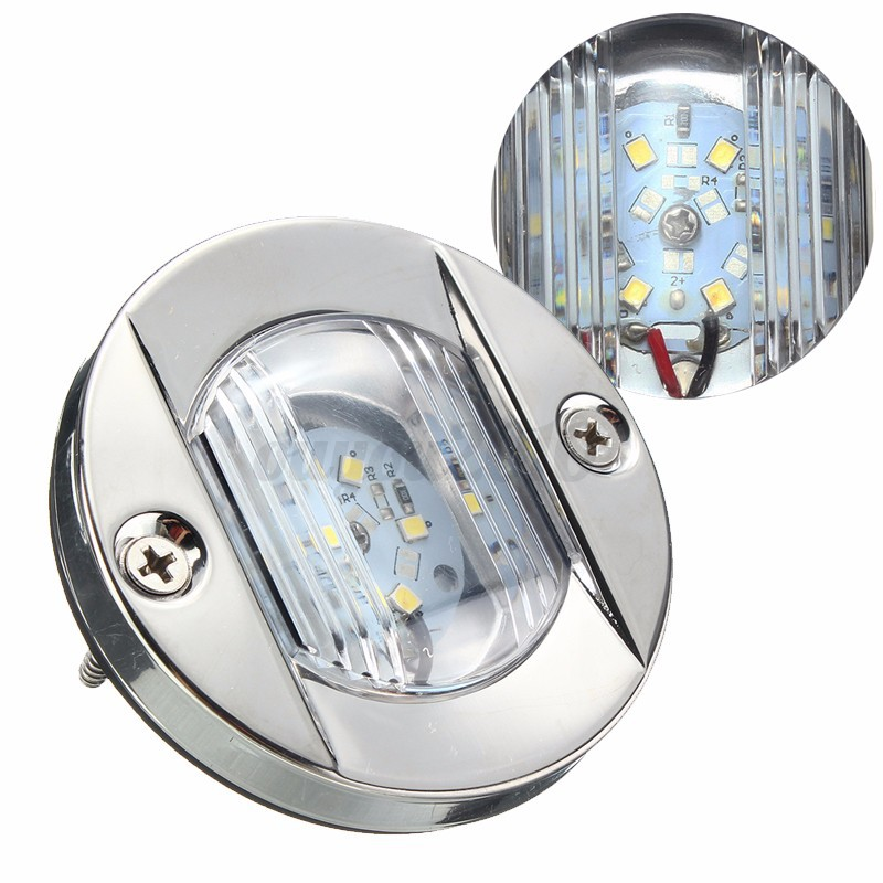 Replace Boat Lights With Led: LED Marine Boat Transom Stainless Steel Anchor Stern Light