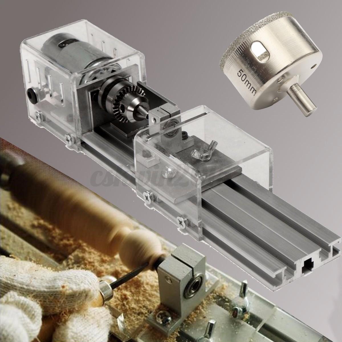 24V Lathe Beads Polisher Machine Woodworking + 15PC Diamond Drill Bits ...