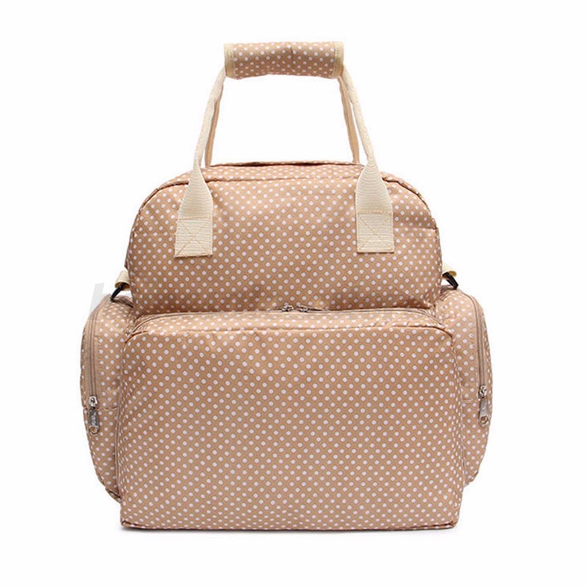 large baby diaper nappy backpack changing bag mummy tote handbag shoulder bag ebay. Black Bedroom Furniture Sets. Home Design Ideas