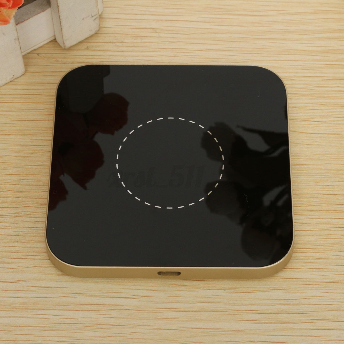 qi sans fil wireless chargeur pad induction pour iphone 6. Black Bedroom Furniture Sets. Home Design Ideas