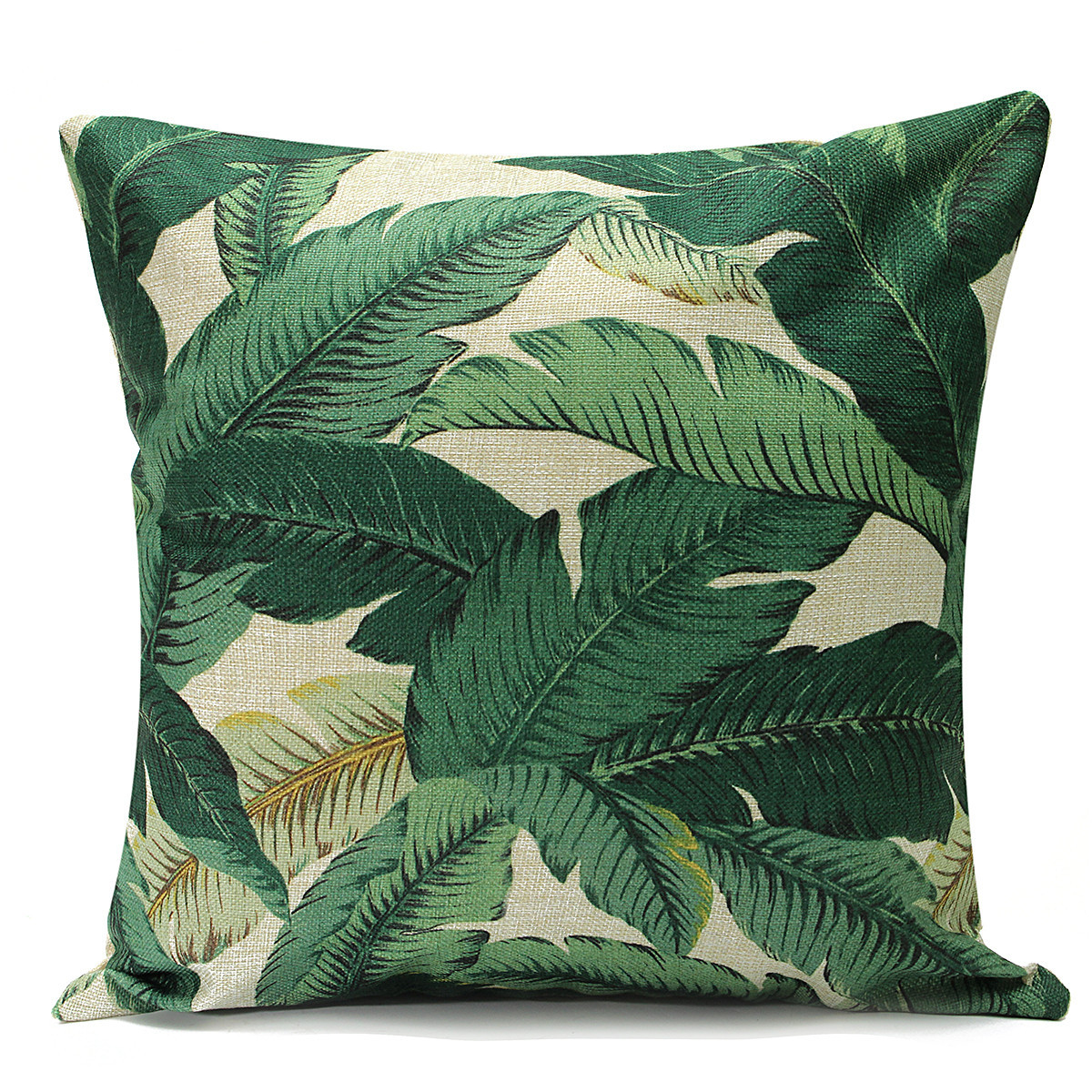 Tropical Banana Leaves Cushion Cover Cotton Linen Throw Pillow Case Home Decor eBay