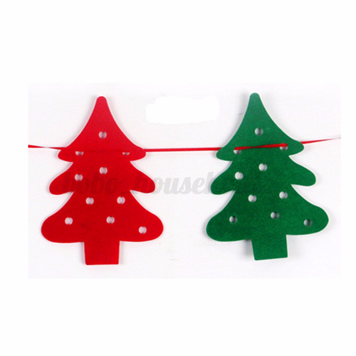 Merry christmas bunting banner party xmas garland tree How to hang garland on a christmas tree