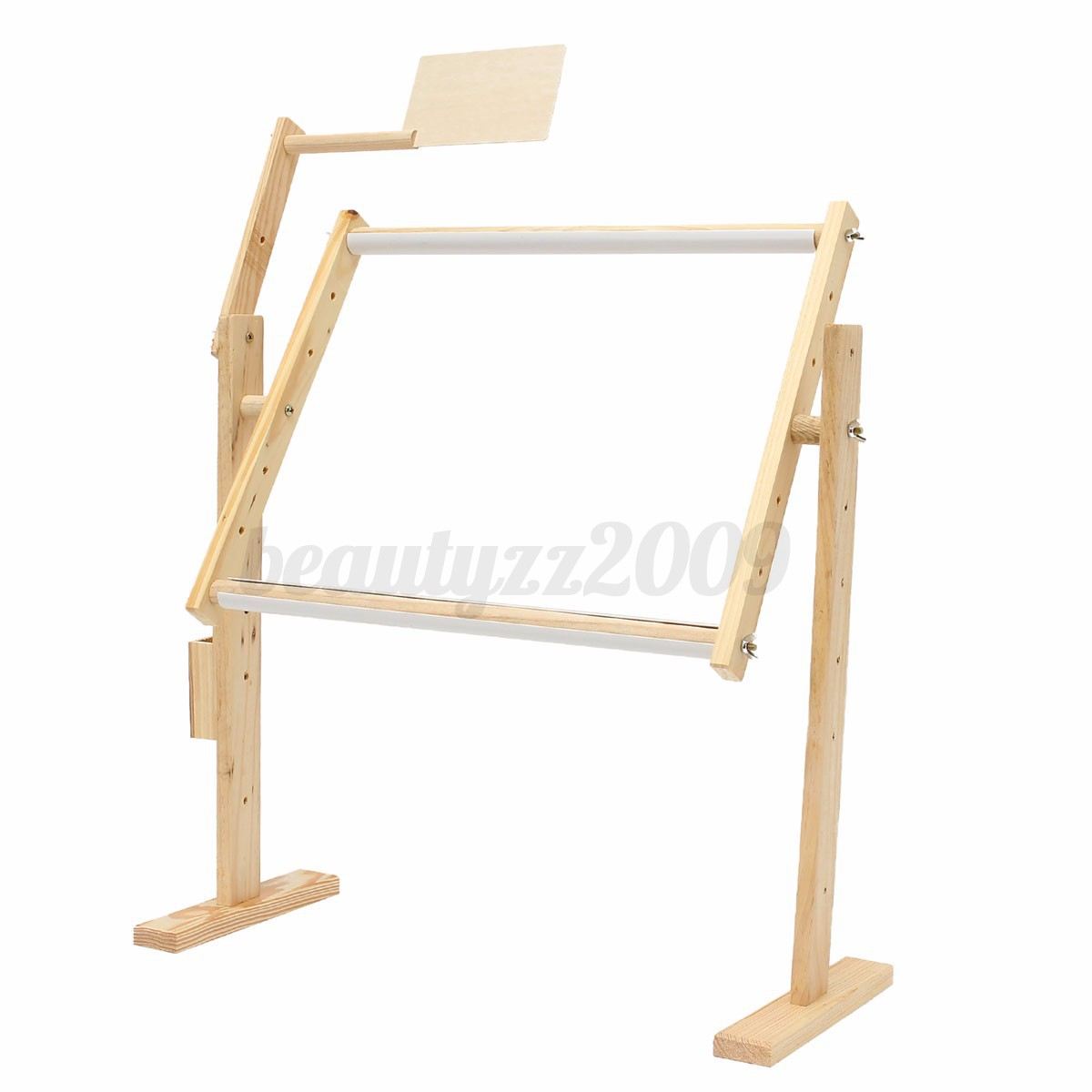 2 Size Wood Embroidery Floor Stand Tabletop Frame Hoop Cross Stitch Needle Craft | EBay