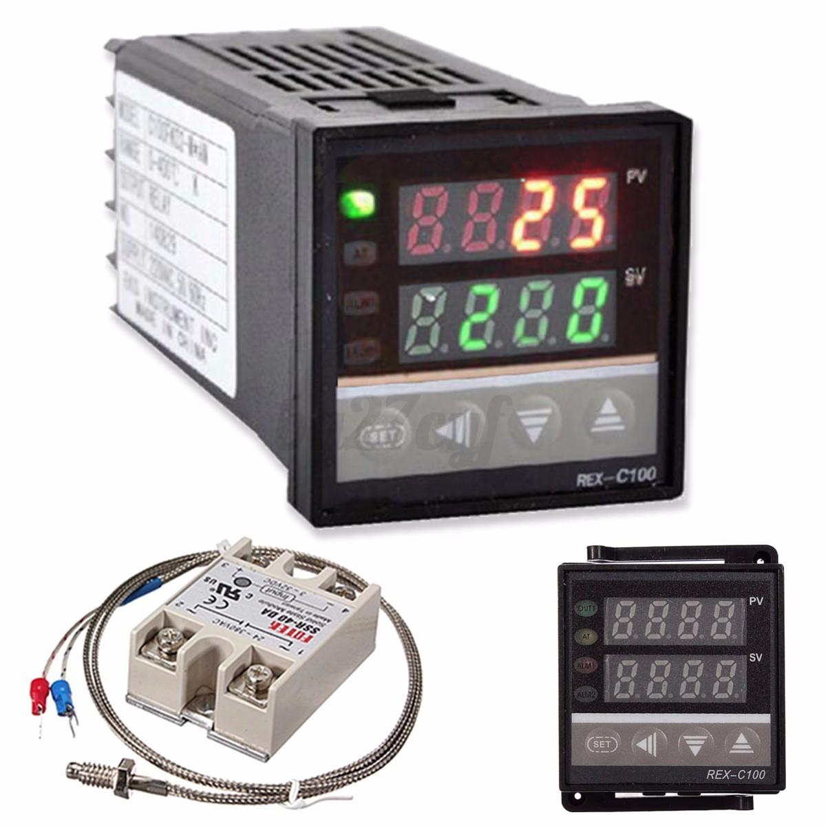 400℃ Digital REX C100 Temperature Controller PID   40A SSR  K  #319A39
