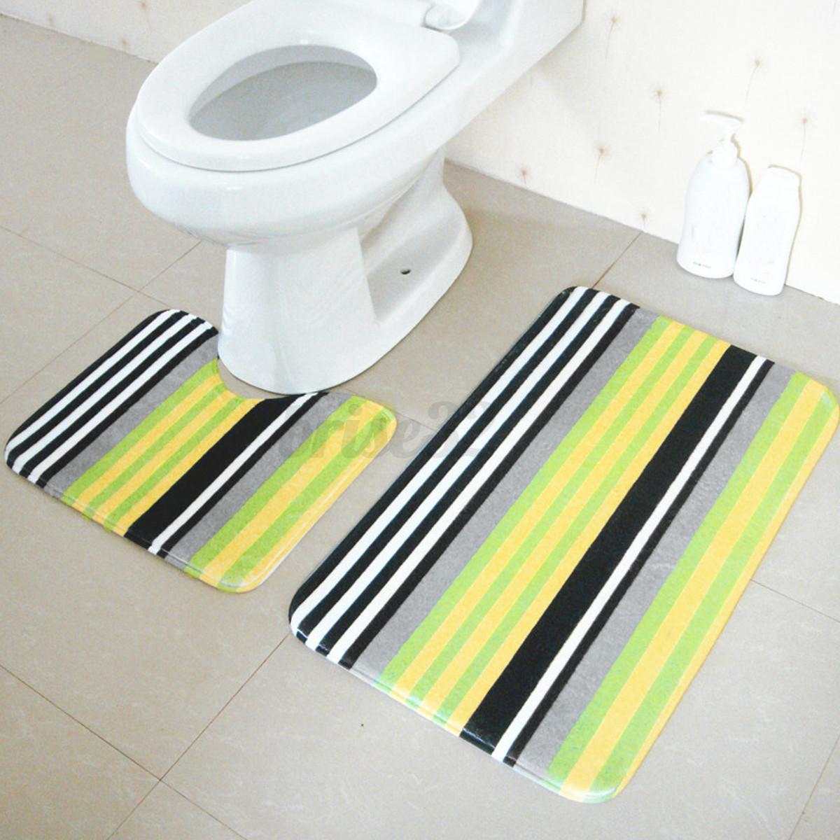 1 set soft 2 pieces bathroom bath pedestal mat toilet non for File f bathroom
