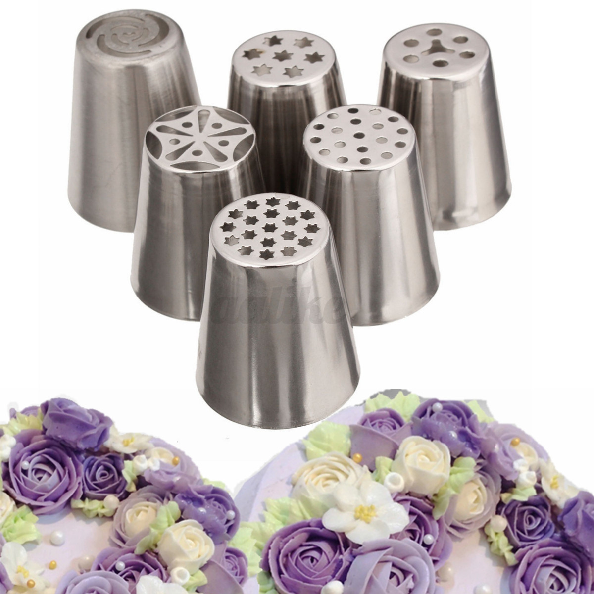 Russian Tulip Flower Icing Piping Nozzles Cake Decorating ...