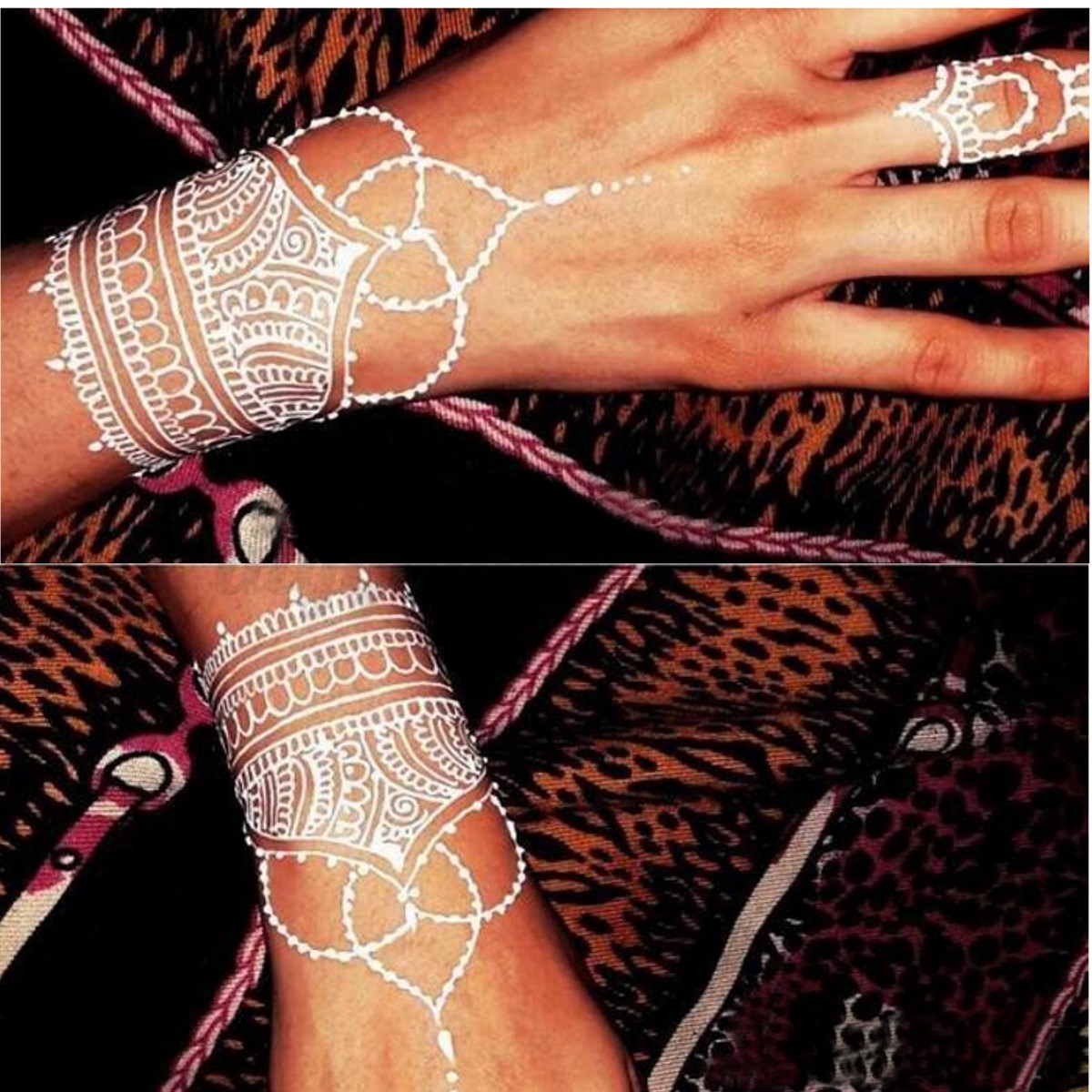 Inflicting Ink Tattoo Henna Themed Tattoos: White Natural Herbal Henna Cones Temporary Tattoo Kit Body